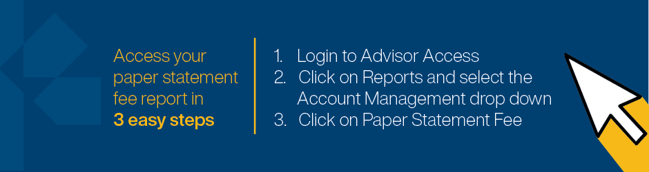Access your paper statements in 3 easy steps